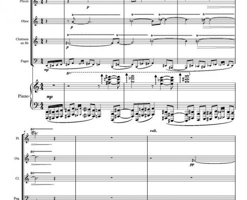 Del triunfo de la Muerte | Para cuarteto de maderas y piano